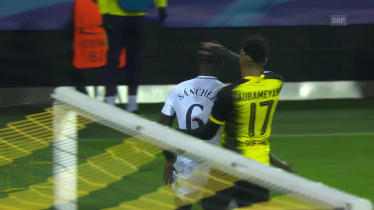 Aubameyangs Tätlichkeit gegen Sanchez