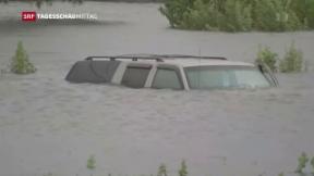 Video «Regen lässt in Houston nach, Louisiana bereitet sich vor» abspielen