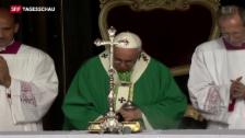 Video «Papst Franziskus fordert religiöse Freiheiten» abspielen