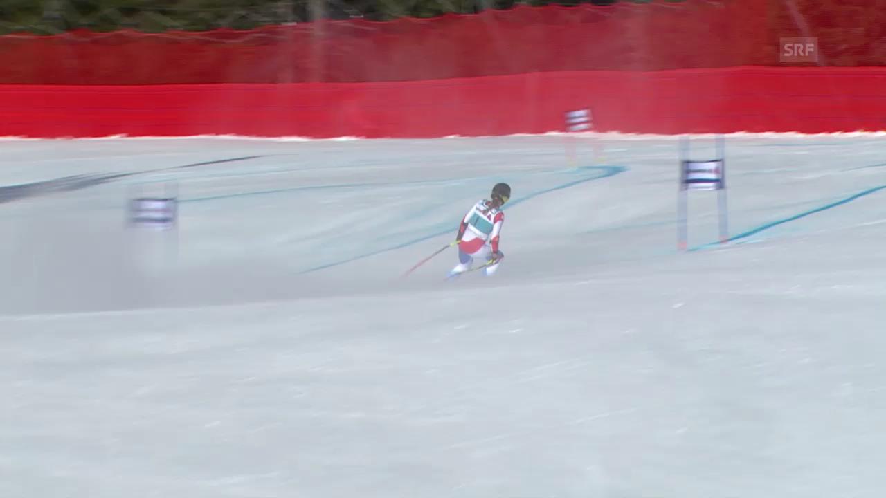 Ski Alpin: Super-G Frauen auf der Lenzerheide, das Out von Fabienne Suter («sportlive», 13.3.2014)