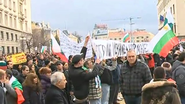 Video «Proteste in Bulgarien» abspielen