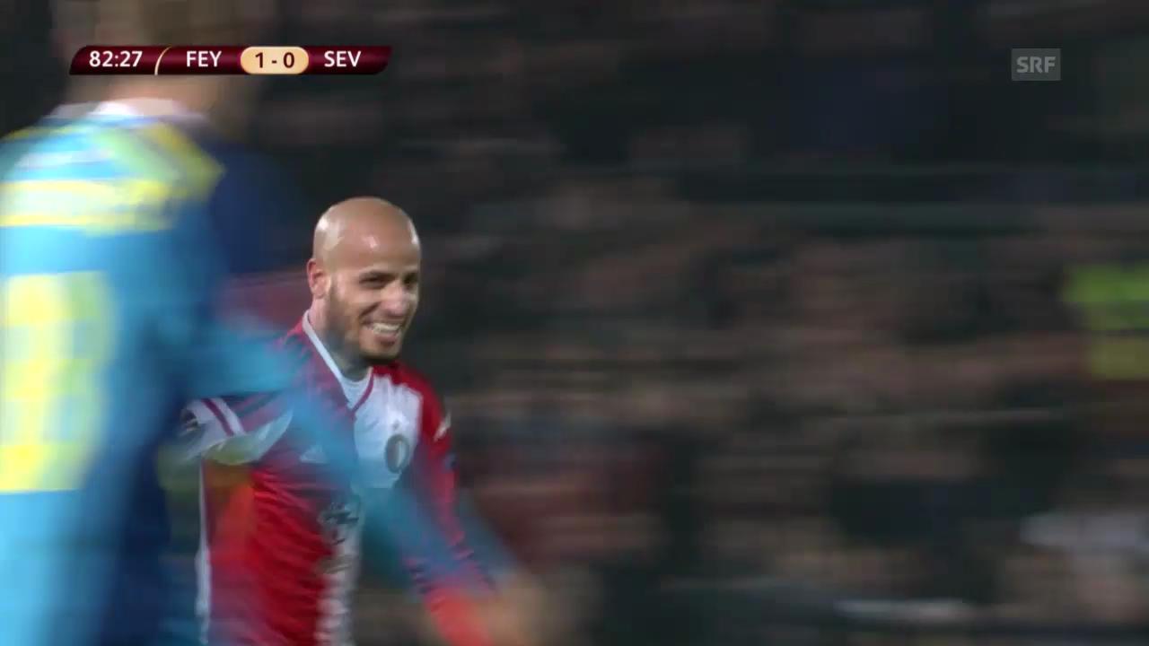 Fussball: EL, Feyenoord-Sevilla