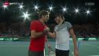Video «Tennis: Federer - Pouille in Paris-Bercy» abspielen