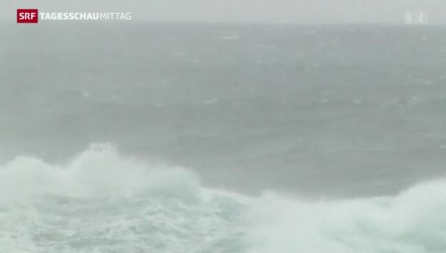 Video «Taifun «Vongfong» wütet in Japan» abspielen