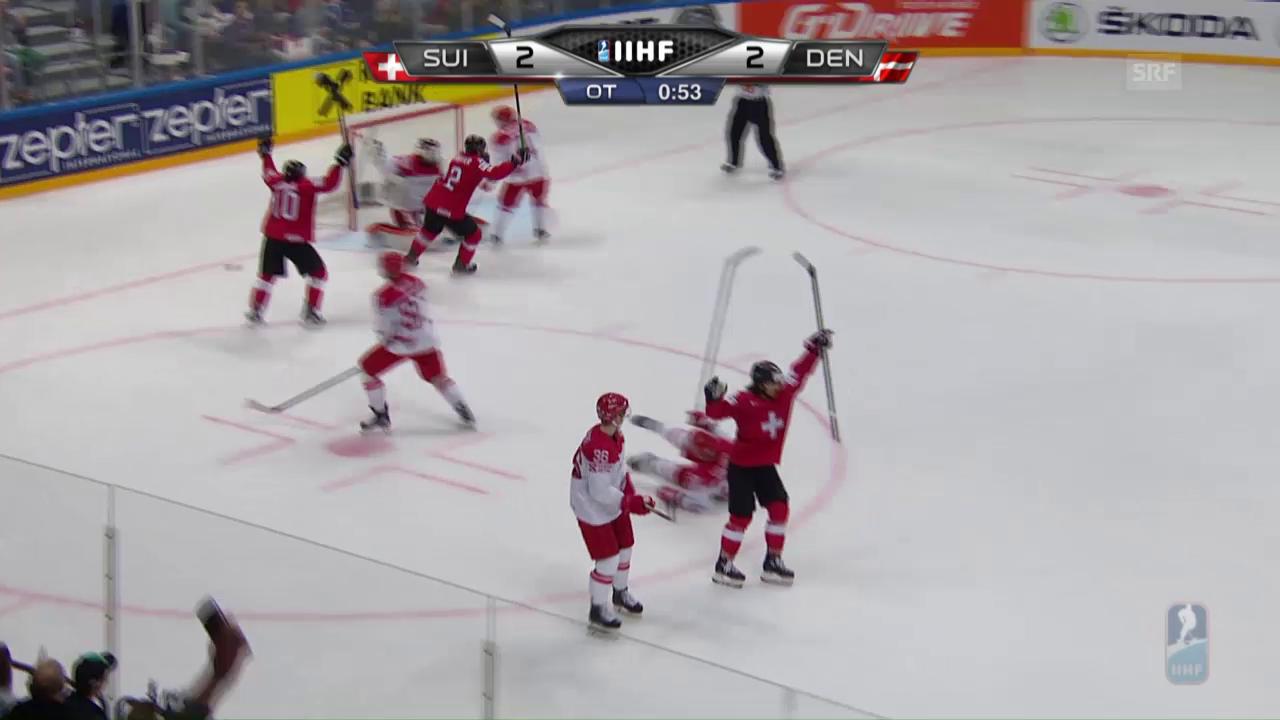 Eric Blum erzielt das Siegestor gegen Dänemark