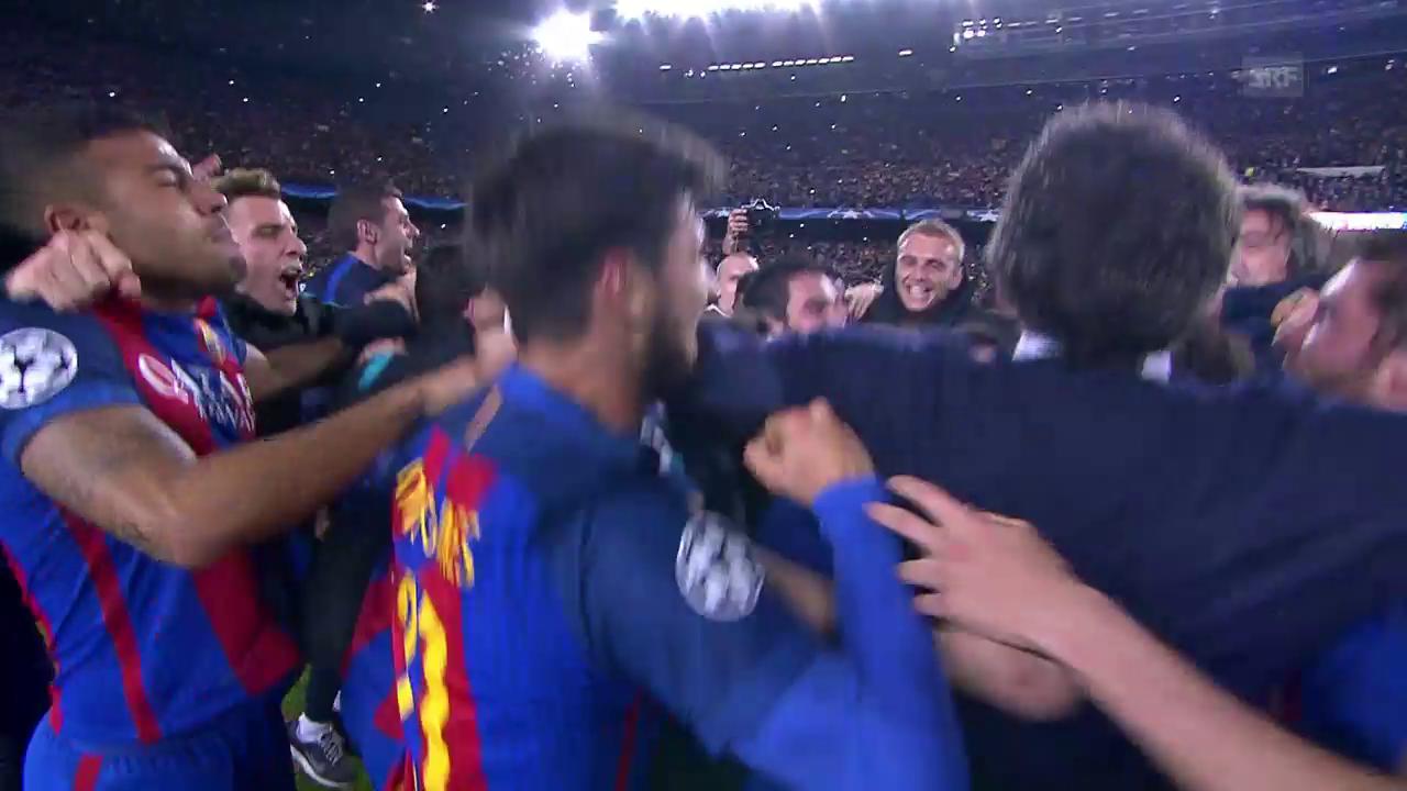 Barcelona mit grosser Wende in den Viertelfinal