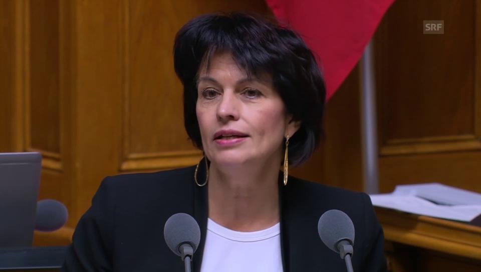 Doris Leuthard: Ende des «politischen Dornröschenschlafs»
