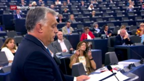 Video «Ungarns Premier Orban vor EU-Parlament» abspielen