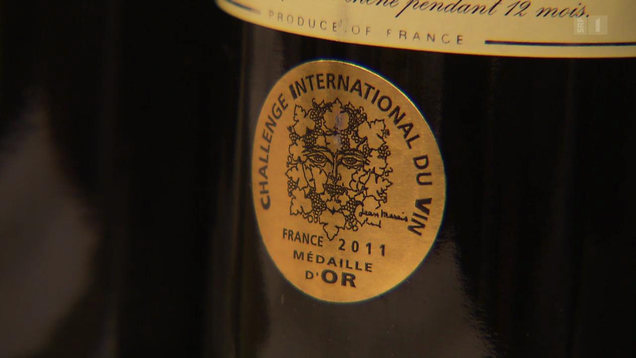 Wein mit Medaillen: Oft nur ein Marketing