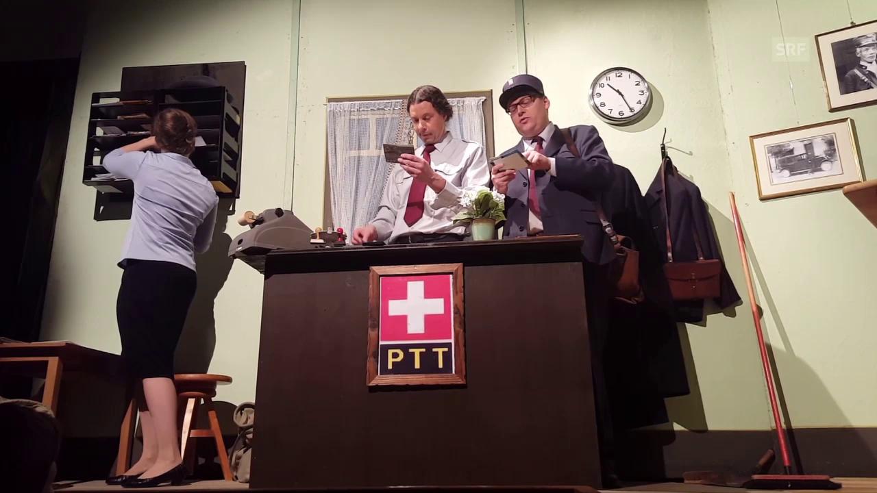 """Szenen aus dem Theaterstück """"Willkomme z'Hinterwald"""""""
