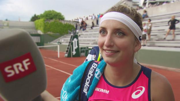 Video «Bacsinszky: «Zunächst geniesse ich jetzt diesen Sieg etwas»» abspielen