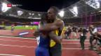 Video «Bolt geschlagen: Überraschung im 100-m-Final» abspielen