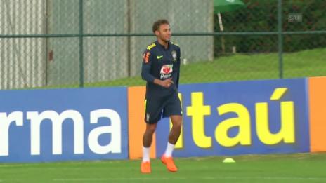 Link öffnet eine Lightbox. Video Neymar steht wieder auf dem Trainingsplatz abspielen