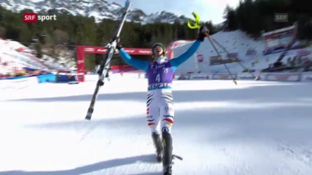 Video «Ski alpin: Slalom in Wengen («sportpanorama»)» abspielen