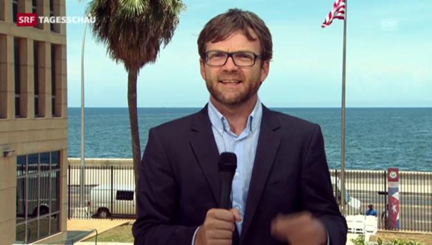 Video «Peter Düggeli zur Öffnung Kubas (Tagesschau vom 14. August 2015)» abspielen