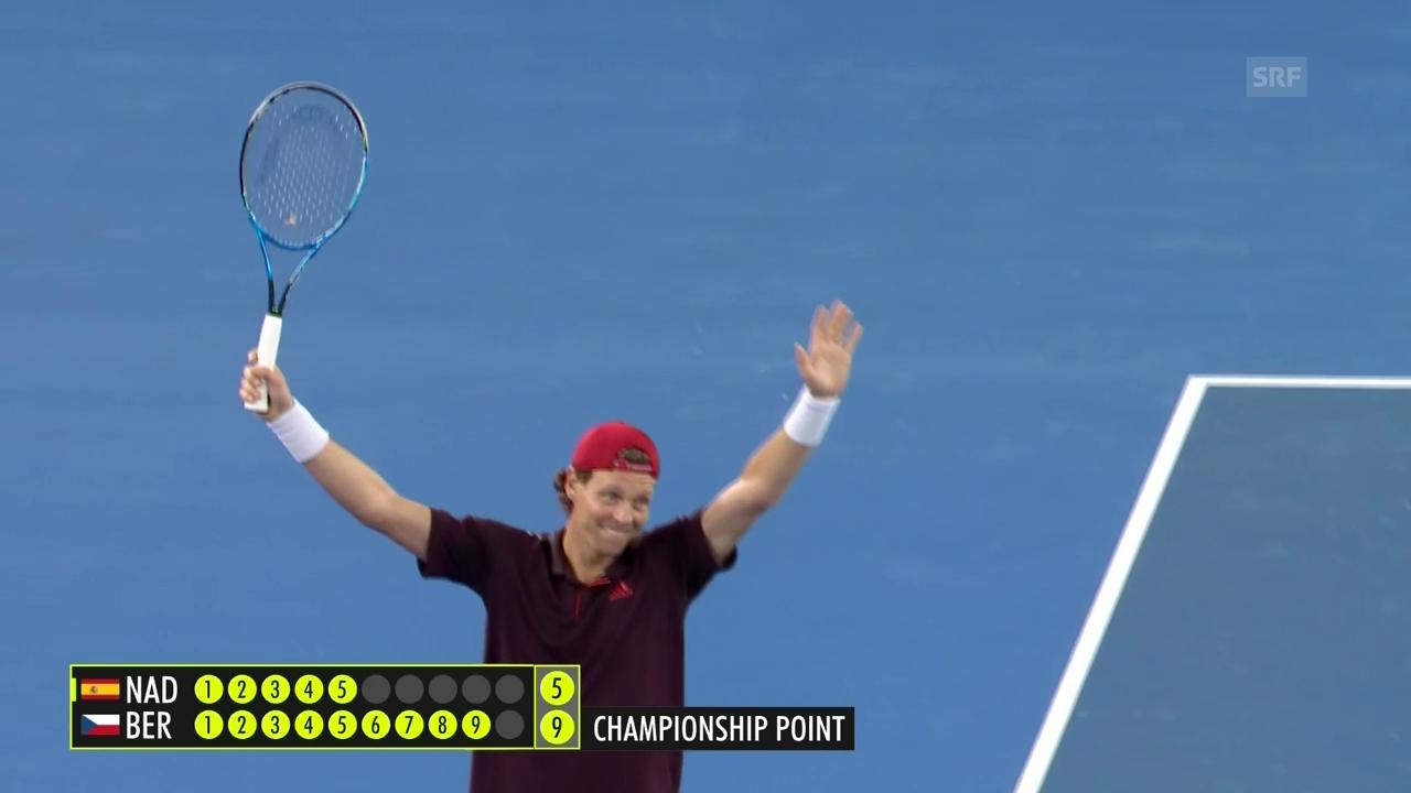 Berdych triumphiert bei Tennis-Plausch-Spektakel in Melbourne