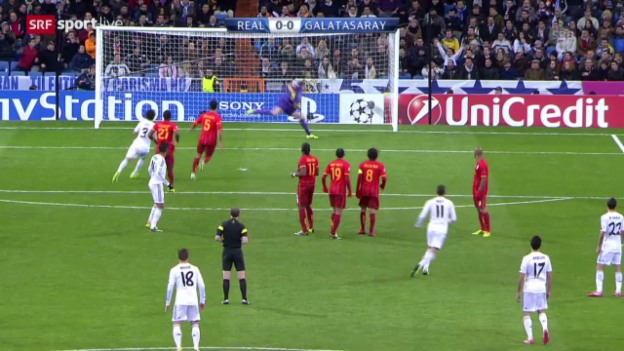 Video «Fussball: CL, Real Madrid - Galatasaray Istanbul» abspielen
