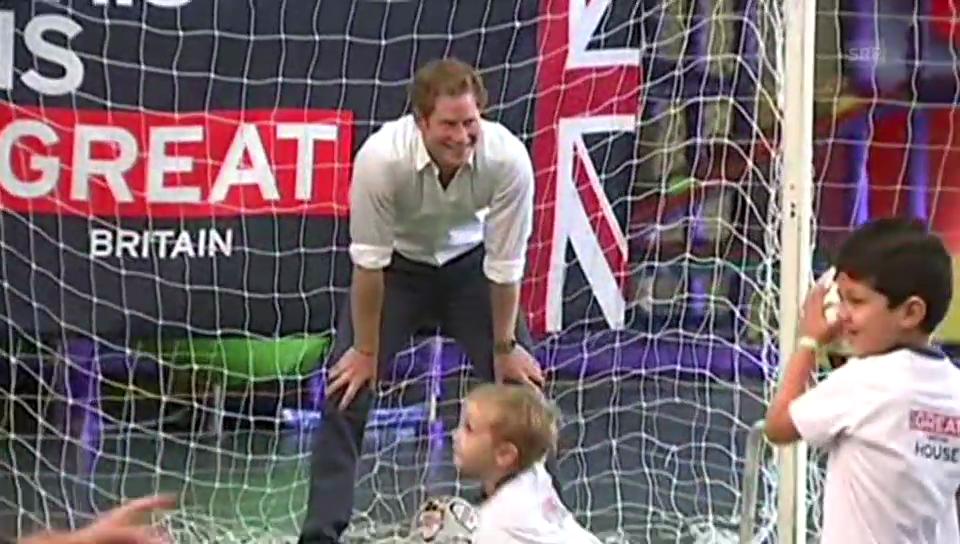 Prinz Harry im Tor