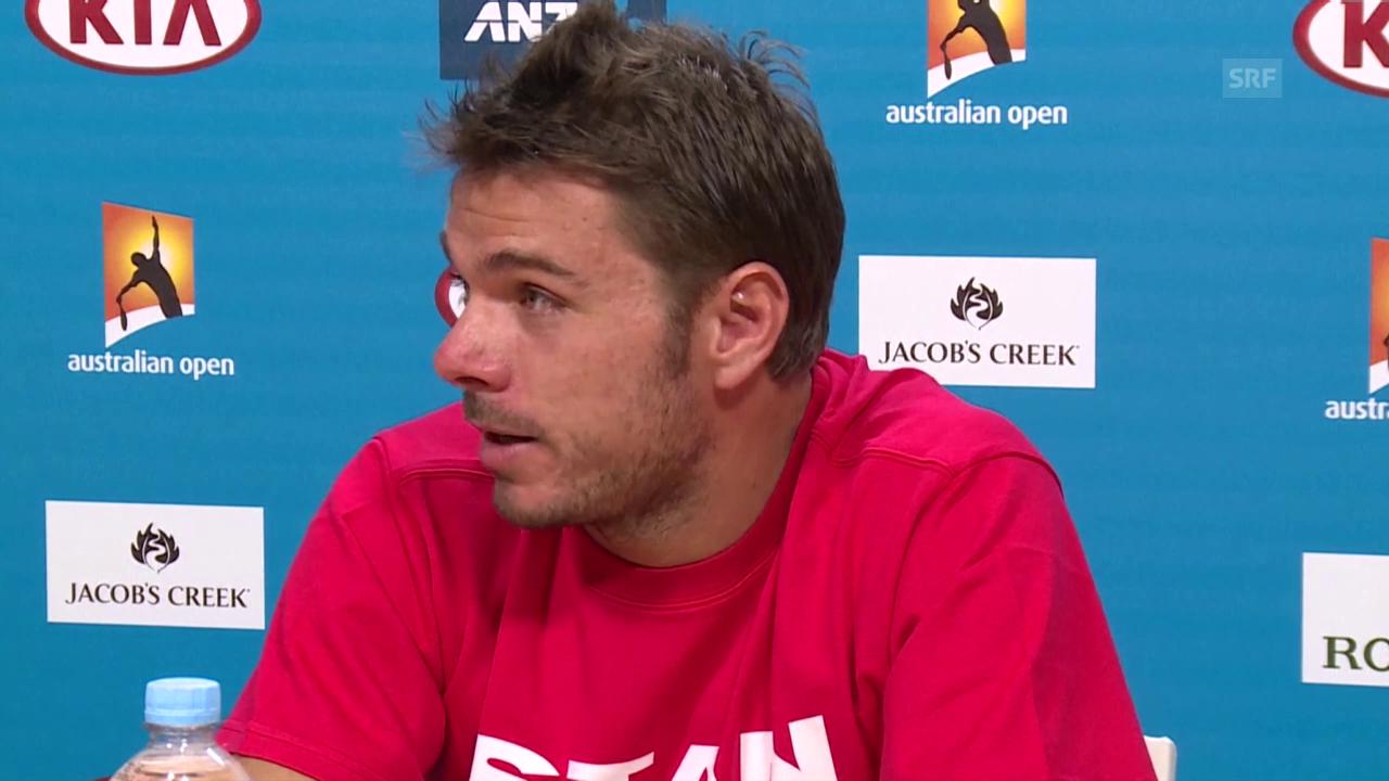 Tennis: Australian Open, 3. Runde, Medienkonferenz Wawrinka