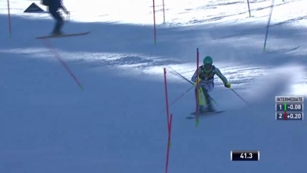 Video «Ski Alpin: Slalom Kranjska Gora, 1. Lauf Felix Neureuther («sportlive», 9.3.2014)» abspielen