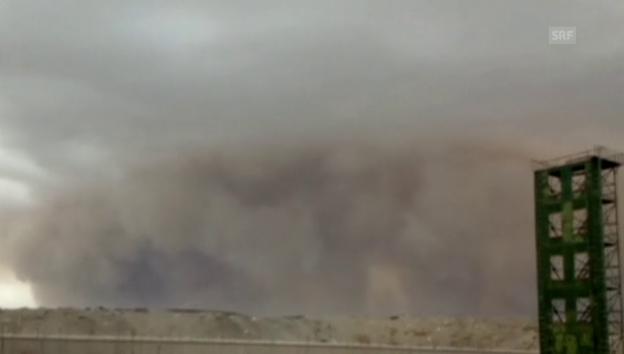 Video «Sandsturm im Nordwesten Chinas» abspielen