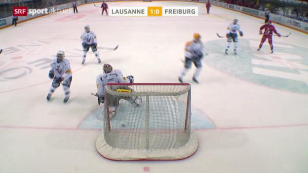 Video «Eishockey: NLA, Lausanne-Freiburg» abspielen
