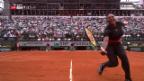 Video «Serena Williams feiert Grand-Slam-Comeback mit Sieg» abspielen