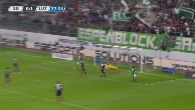 Video «Highlights St. Gallen - Luzern» abspielen