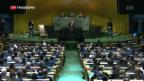Video «Trump vor der UNO mit kriegerischen Worten» abspielen