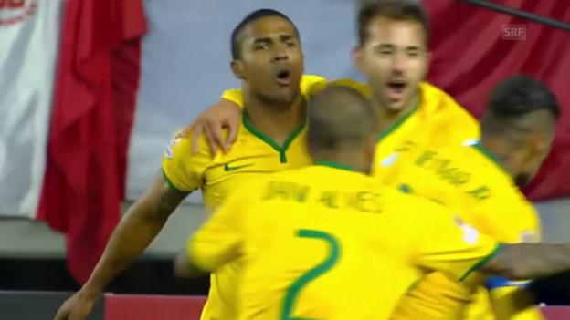 Video «Fussball: Copa America, Brasilien - Peru» abspielen
