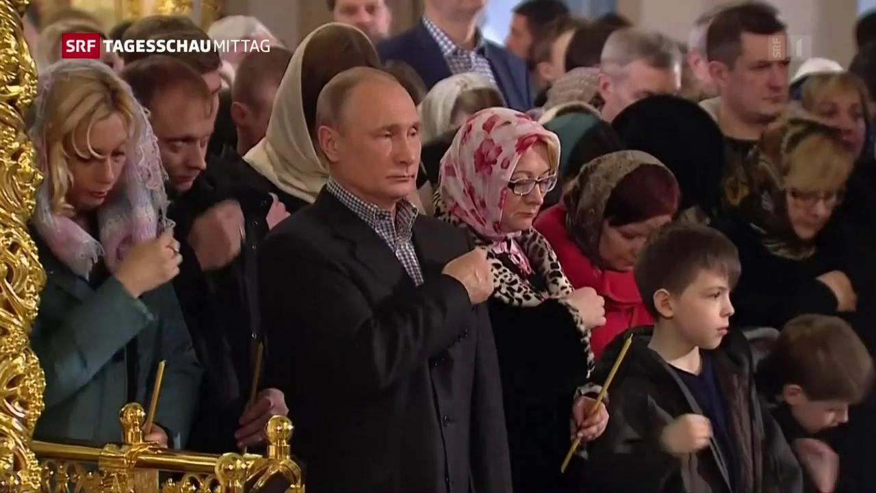Putin besucht Gottesdienst zu Weihnachten