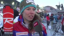 Video «Ski: Weltcup Frauen, Slalom Are, Michelle Gisin im Interview» abspielen