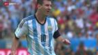 Video «FIFA WM 2014: Spielbericht Argentinien - Nigeria» abspielen
