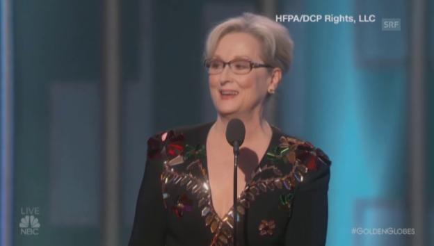 Video «Meryl Streep kritisiert Donald Trump (englisch)» abspielen