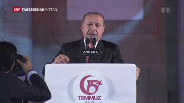 Video «Erdogan zeigt sich in Ansprache gnadenlos» abspielen