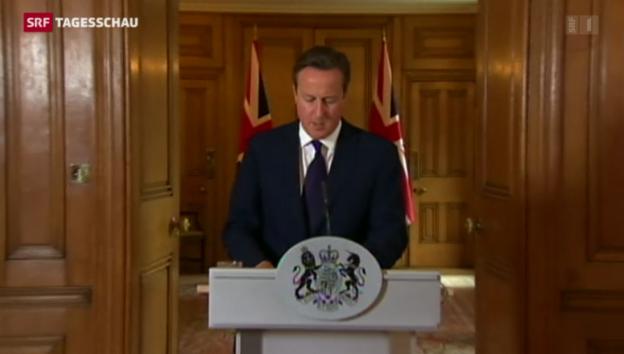 Video «Cameron kündigt harten Kampf an» abspielen