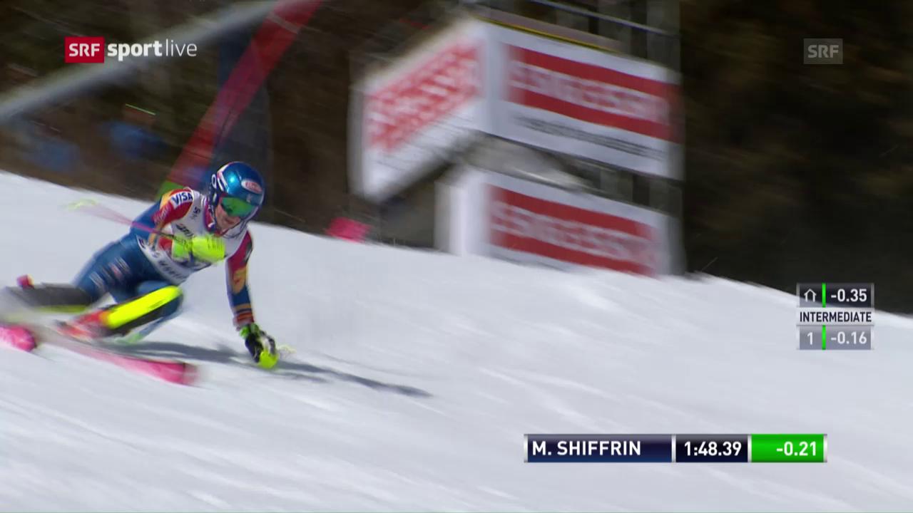Die Slalomfahrt zum Sieg von Shiffrin