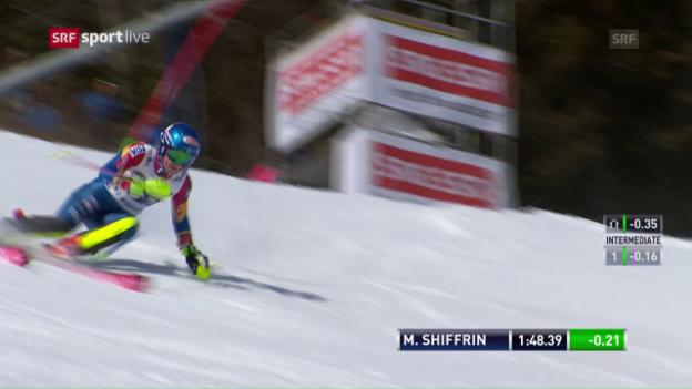 Video «Die Slalomfahrt zum Sieg von Shiffrin» abspielen