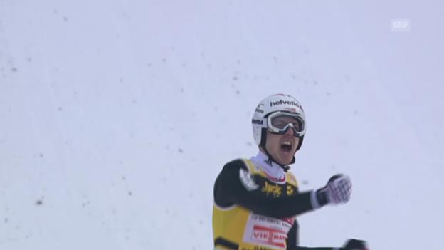 Video «Skispringen: Ammanns Schanzenrekord in Garmisch» abspielen