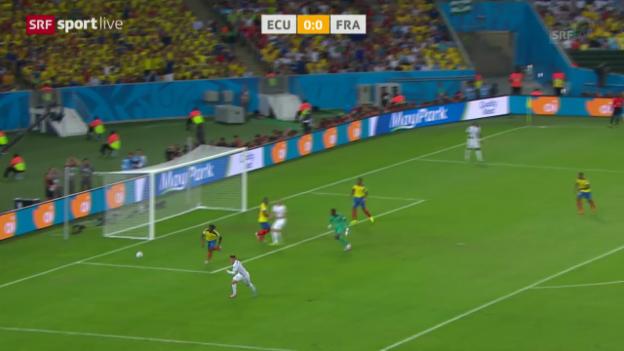 Video «FIFA WM 2014: Spielbericht Ecuador - Frankreich» abspielen