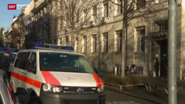 Video «Polizeieinsatz bei jüdischer Schule in Zürich» abspielen