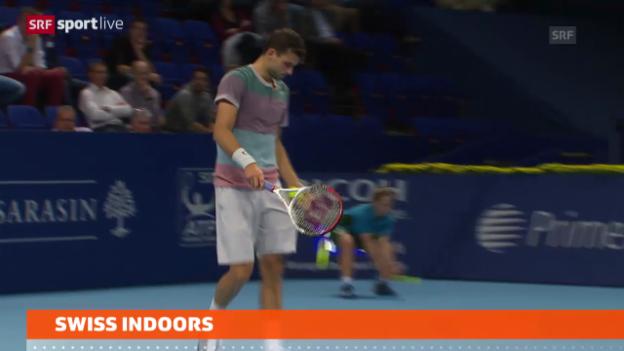 Video «Tennis: Federer trifft auf Dimitrov» abspielen