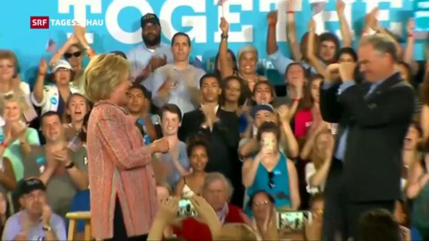 Video «Clinton ernennt Kaine» abspielen