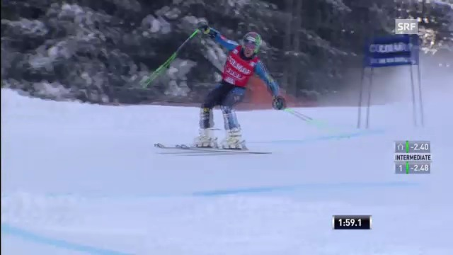 Ski alpin: 2. Lauf von Ted Ligety in Alta Badia