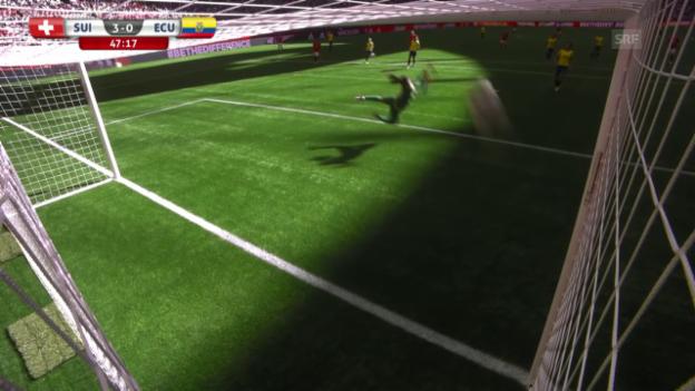 Video «Fussball: Frauen-WM, Schweiz - Ecuador, 3:0 von Humm» abspielen