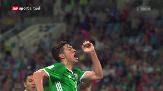 Video «Mexiko wahrt die Hierarchie gegen Neuseeland doch noch» abspielen