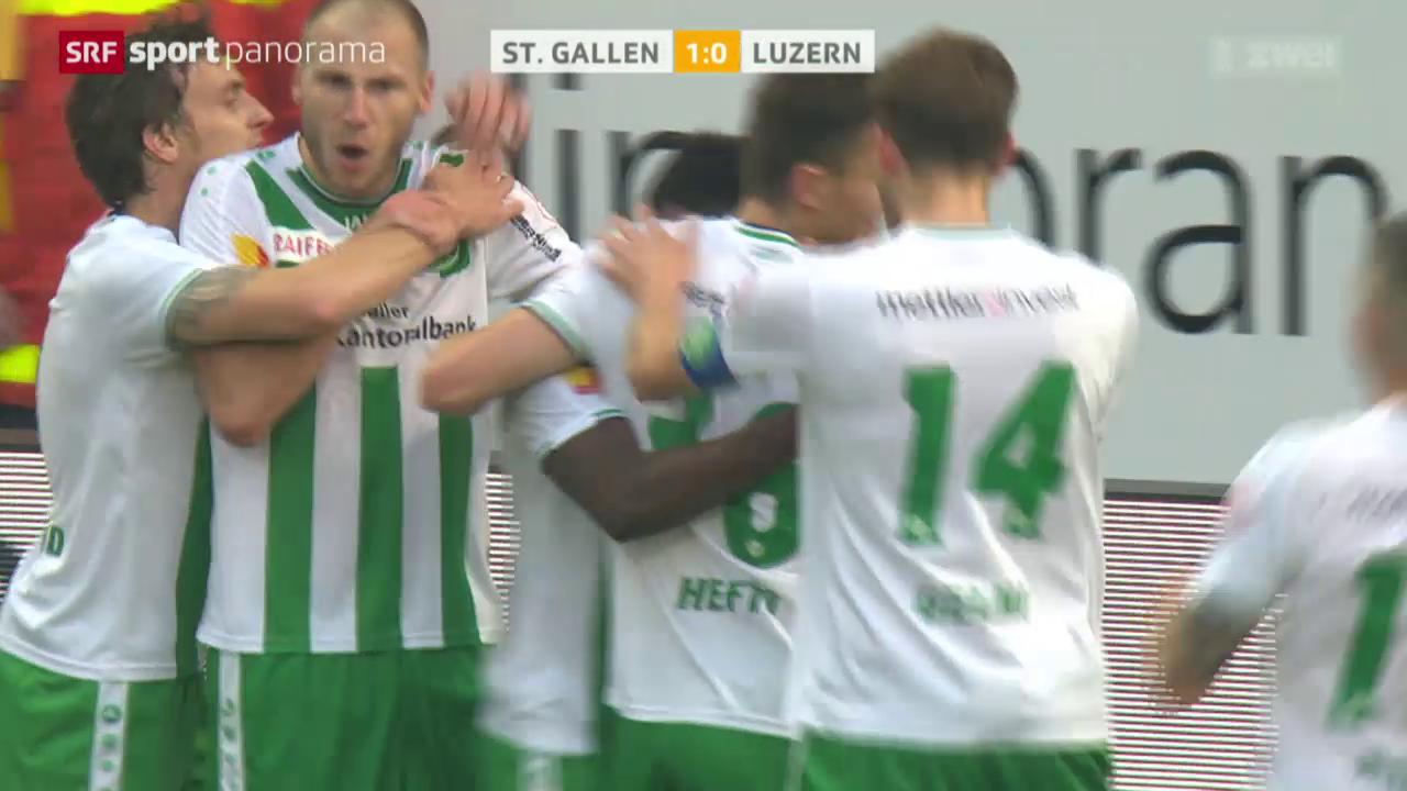 Fussball: Super League, St. Gallen - Luzern