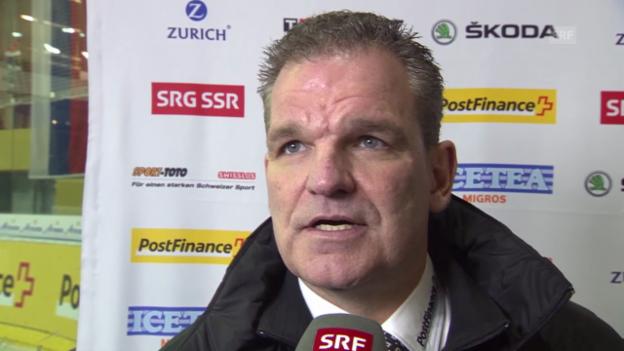 Video «Eishockey: Arosa Challenge, Weissrussland - Schweiz, Interview mit Sean Simpson» abspielen