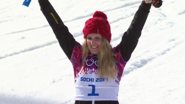 Video «Snowboard: Parallel-RS, Flower-Ceremony mit Patrizia Kummer (sotschi direkt, 19.2.14)» abspielen