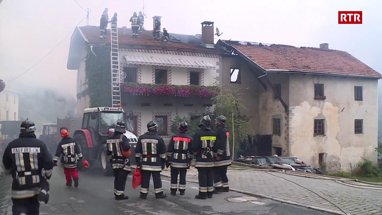 Grond incendi a Tuer en Val Müstair